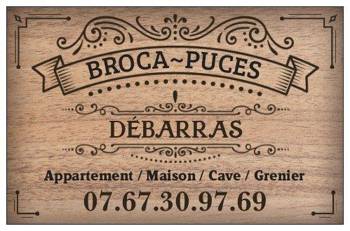 Carte visite BROCA PUCES Débarras Départements 44 49 85